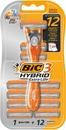 Bic 3 Hybrid Extra Life Varsi Ja 12 Vaihtoterää