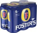 6 X Foster's Olut 4,5% 0,44 L