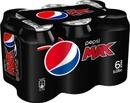 6 X Pepsi Max Virvoitusjuoma 0,33 L