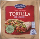 Santa Maria 371G Tex Mex Tortilla Original Large (6-Pack)