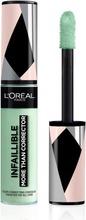 L'oréal Paris Infaillible More Than Corrector 001 Green Peiteväri 11Ml