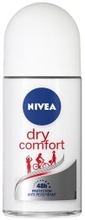 Nivea 50Ml Dry Comfort Deo Roll-On -Antiperspirantti