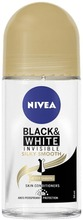 NIVEA 50ml Black & White Invisible Silky Smooth Deo Roll-On -antiperspirantti