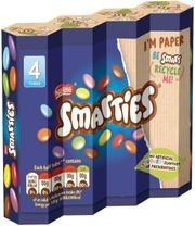 Nestlé Smarties 4X34g Sokerikuorrutettuja Maitosuklaarakeita