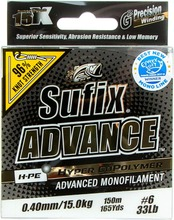 Sufix Advance 150M 0,40Mm / 15,0Kg Kirkas Monofiilisiima