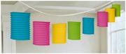 Värikäs Paperilyhtyköynnös 3,65M 3Kpl