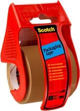 Scotch-Pakkausteippi Käsitelineessä, Ruskea, 1 Rulla, 48 Mm X 20 M