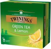 Twinings 50X1,6g Green Tea & Lemon