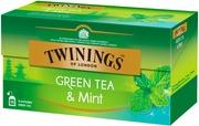 Twinings 25X1,5g Green Tea & Mint