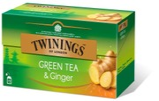 Twinings 25X1,6g Green Tea & Ginger Tee