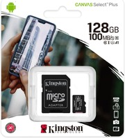 Kingston 128Gb Microsdhc Canvas Select Plus 100R