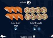 Itsudemo Sushi Box, 6*Lohi Nigiri 6, 8*Lohi Uramaki