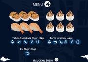 Itsudemo Sushi Box, 3*Tahna Tonnikala Nigiri, 3* Ebi Nigiri, 6*Torni Uramaki