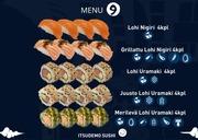 Itsudemo Sushi Box, 4*Lohi Nigiri, 4*Grillattu Lohi Nigiri, 4* Juusto Lohi Uramaki, 4*Lohi Uramaki, 4* Merilevä Uramaki