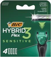 Bic Hybrid Flex 3 Sensitive Varaterä 4-Pack