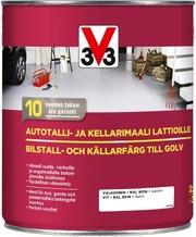 V33 Kellari- Ja Autotallimaali 2,5L Valkoinen