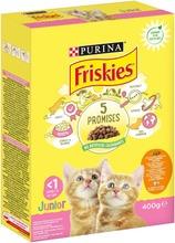 Friskies 400G Junior Cats Kanaa, Maitoa Ja Kasviksia Kissanruoka