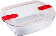 Pyrex lasivuoka mikroaaltouunin kestävällä kannella Cook and Heat 2,6 l