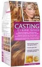 L'oréal Paris Casting Crème Gloss 834 Caramel Blonde Luonnonvaalea Kuparikulta Kevytväri 1Kpl