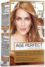 L'oréal Paris Age Perfect By Excellence 7.32 Dark Golden Pearl Blonde Tummanvaalea Helmiäiskulta Kestoväri 1Kpl