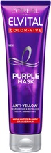 L'oréal Paris Elvital Color Vive Purple Violetinvärinen Hopeanaamio 150Ml