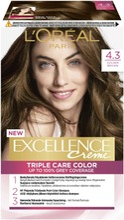 L'oréal Paris Excellence Creme 4.3 Tumma Kullanruskea Kestoväri 1Kpl