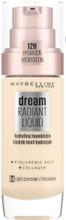 Maybelline New York Dream Radiant Liquid 004 Light Porcelain Meikkivoide 30Ml