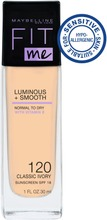 Maybelline New York  Fit Me Luminous & Smooth 120 Classic Ivory -Meikkivoide 30Ml