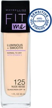 Maybelline New York  Fit Me Luminous & Smooth 125 Nude Beige -Meikkivoide 30Ml