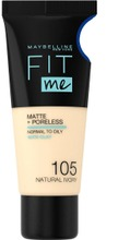 Maybelline New York  Fit Me Matte & Poreless 105 Natural Ivory -Meikkivoide 30Ml