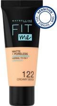 Maybelline New York Fit Me Matte+Poreless -Meikkivoide 122 Creamy Beige 30Ml