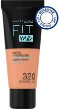 Maybelline New York Fit Me Matte Poreless -Meikkivoide 320 Natural Tan 30Ml