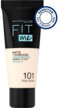 Maybelline New York  Fit Me Matte   Poreless 101 True Ivory -Meikkivoide 30Ml