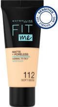 Maybelline New York  Fit Me Matte Poreless 112 Soft Beige -Meikkivoide 30Ml