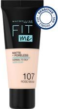Maybelline New York  Fit Me Matte+Poreless 107 Rose Beige -Meikkivoide 30Ml
