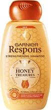 Garnier Respons Honey Treasures Vahvistava Shampoo Heikoille Ja Kuluneille Hiuksille 250Ml