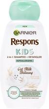 Garnier Respons Kids 2In1 Hypoallergenic Oat Milk Delicacy Lasten Shampoo 250Ml