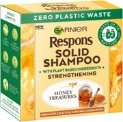 Garnier Respons Honey Treasures Solid Shampoo Palashampoo Haurastuneille, Kuluneille Hiuksille  60G