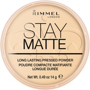 Rimmel 14G Stay Matte Pressed Powder Kivipuuteri 001 Transparent