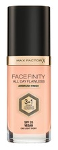 Max Factor 30Ml Facefinity All Day Flawless 3In1 Meikkivoide 40 Light Ivory