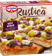 Dr. Oetker Rustica Beef Kebab Pakastepizza 610G