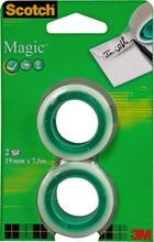 Scotch Magic- Teippi, Täyttöpakkaus, 2 Rullaa, 19 Mm X 7,5 M