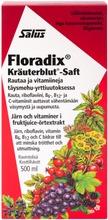 Salus Floradix Kräuterblut-Saft Rautaa Ja Vitamiineja Täysmehu-Yrttiuutoksessa 500Ml