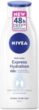 Nivea 400Ml Express Hydration Body Lotion Vartaloemulsio Normaalille Ja Kuivalle Iholle