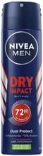 NIVEA MEN 150ml Dry Impact Deo Spray -antiperspirantti