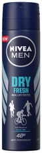 Nivea Men 150Ml Dry Fresh Deo Spray -Antiperspirantti
