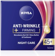 Nivea 50Ml Anti-Wrinkle   Firming Night Care 45  -Yövoide