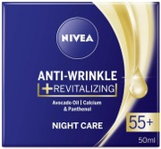 Nivea 50Ml Anti-Wrinkle   Revitalizing Night Care 55  -Yövoide