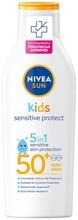 Nivea Sun Kids 200Ml Sensitive Protect & Play Sun Lotion Sk50  -Aurinkosuojavoide