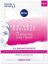 Nivea 1Kpl Natural Radiance Sheet Mask -Kasvonaamio